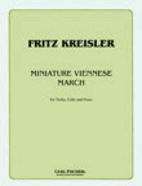 cello and piano Miniature Viennese March Kreisler score and parts violin